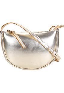 Bolsa Anacapri Pequena Metalizada Feminina - Feminino-Dourado