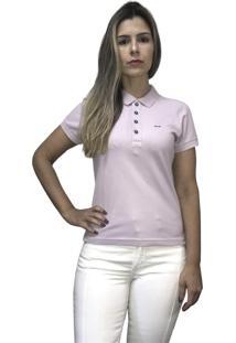 Camiseta Hifen Polo Feminina Roxa - Kanui