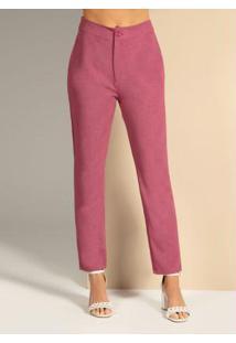 Calça Com Bolso Laterais Pink
