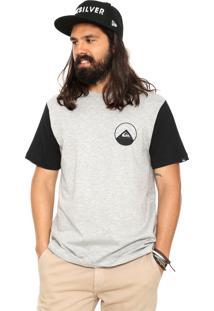 Camiseta Quiksilver New Wave Double Cinza