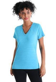 Camiseta Gola V Energy Feminnina - Feminino-Azul Turquesa