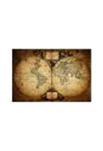 Painel Adesivo De Parede - Mapa Mundi Vintage - 423Pn-G