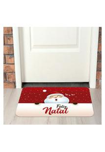 Tapete De Natal Para Porta Feliz Natal Vermelho Único