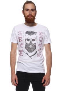 Camiseta King&Joe Manga Curta Branco