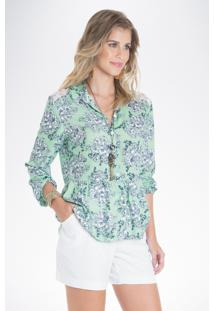 Camisa Mercatto Estampada Verde