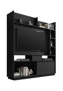 Estante Home Divisor De Ambientes Para Tv Até 50 Pol. Versus Preto Vel