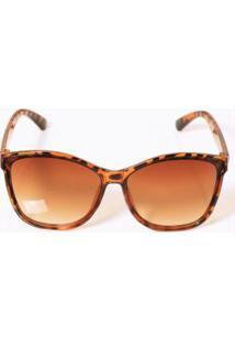 Óculos De Sol Marrom Com Lentes Degradê