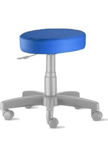 Cadeira Mocho Nina Cz Sem Encosto Azul