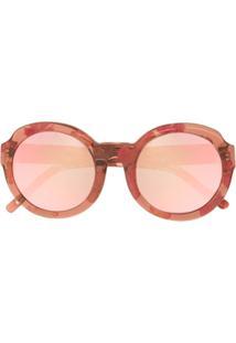 fc7b5ff0a850f R  3866,00. Farfetch Óculos De Sol De Sol Feminino Vermelho Kj Linda Farrow  ...