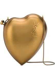 Saint Laurent Bolsa Transversal Love Box - Dourado