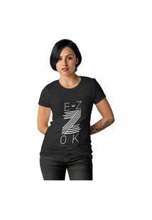 Camiseta Feminina Ezok Z Preto