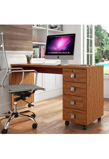 Mesa Para Computador Dubai - Lukaliam Móveis - Amêndoa