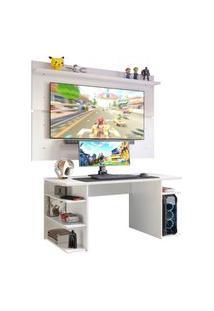 Mesa Gamer Madesa 9409 E Painel Para Tv Até 65 Polegadas - Branco Branco