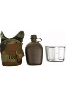 Cantil Militar Térmico 1 Litro Caneca De Alumínio Thata Esportes
