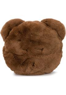 Yves Salomon Enfant Bear Clutch Bag - Marrom