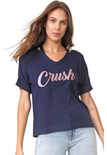 Blusa Enfim Crush Azul-Marinho