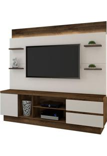 "Estante Home New Buran Para Tv Até 60"" Cacau/Off White"