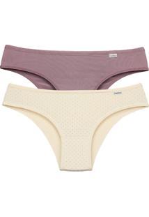 DelrioKit C/2 Calcinhas Fashion - New Nude E Petit Poá