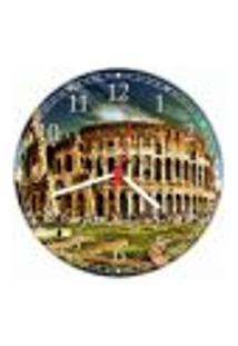 Relógio Parede Cidade Roma Coliseu Itália Quartz Decorações
