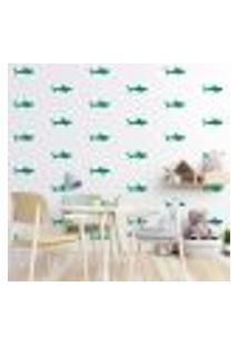 Adesivo Decorativo De Parede - Kit Com 55 Tubarão - 026Kaa17