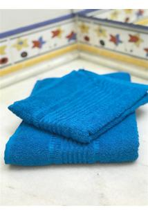 Jogo 2 Peças Toalhas De Banho E Rosto Prisma Af1387 - Azul