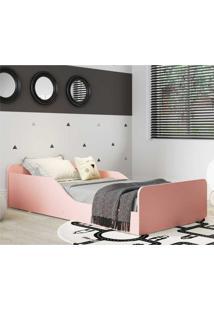 Cama Montessoriana Multimóveis 100% Mdf Para Colchão 150X70Cm Rosa Rosa
