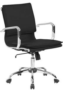 Cadeira De Escritório Diretor Eames Comfort Preta