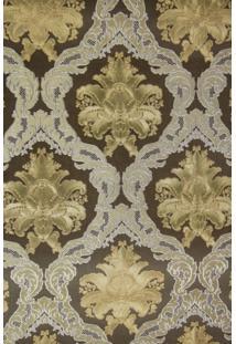 Papel De Parede Vinílico Lavável Maya Wallpaper 0,53 X 10M Arabescos Dourado/Marrom