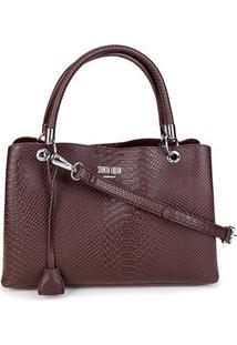 Bolsa Santa Lolla Handbag Cobra Feminina - Feminino-Café