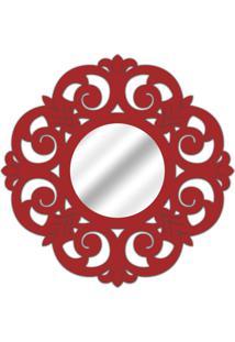 Espelho De Parede 14880V Vermelho 70X70 Art Shop