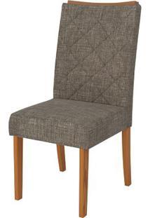 Cadeira Golden 2 Peças - Linho Bronze - Carvalho Americano