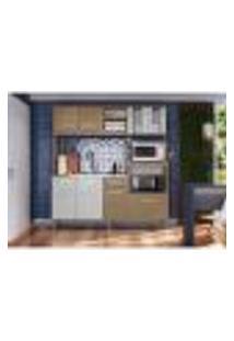 Cozinha Compacta Helena 8 Pt 1 Gv Brunne E Off White