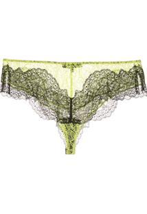 Kiki De Montparnasse Calcinha 'All Over Lace Poison' - Verde