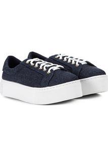 Tênis Santa Lolla Caixa Alta Jeans Feminino - Feminino-Jeans