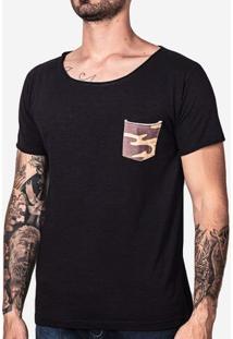 Camiseta Bolso Militar 100802