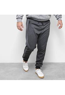 Calça Moletom Delkor Plus Size Masculina - Masculino-Preto