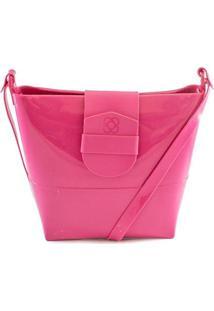 Bolsa Crossbody Com Lapela Easy Petite Jolie Feminina - Feminino-Pink