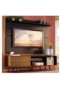 Rack Madesa Dubai E Painel Para Tv Até 65 Polegadas Com Pés - Rustic/Preto 5Zd8 Marrom