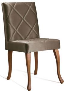 Cadeira Juliete Losango Dourada Daf Marrom