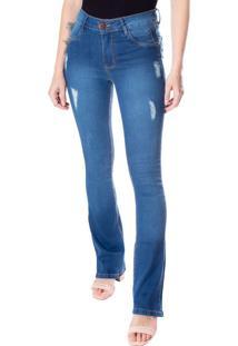 Calça Flare Feminina One Jeans Azul - 36