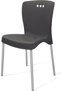 Cadeira Mona Base Aluminio Polido Cor Preto - 21714 - Sun House