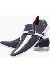 Sapato Social Paulo Vieira Azul/Branco