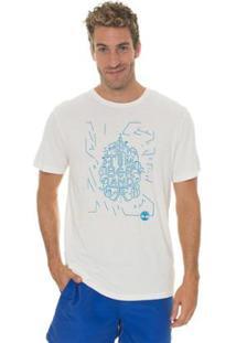 Camiseta Timberland Sunny Town Masculina - Masculino-Branco
