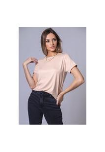Blusa T-Shirt Contra - Nude