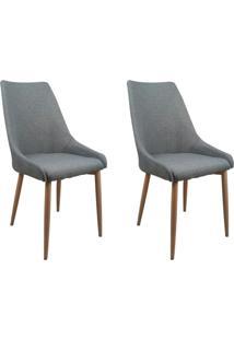 Conjunto Com 2 Cadeiras Anivia Cinza