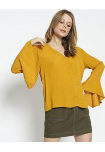 Camisa Lisa Com Tag - Amarelo Escuro - Colccicolcci