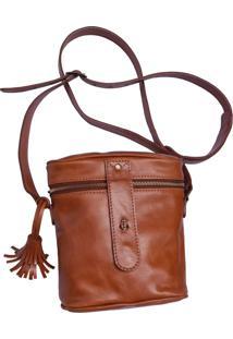 Bolsa Line Store Leather Cantil Âncora Couro Whisky Rústico. - Kanui