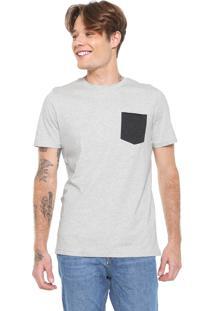 Camiseta Jack & Jones Com Bolso Cinza