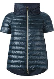 Herno Short-Sleeve Puffer Jacket - Azul