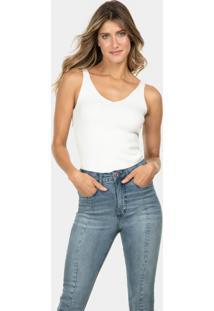 Calça Cropped Aruba Flat Belly Jeans - Lez A Lez